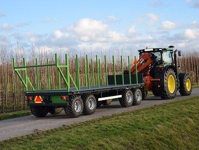Aanhangwagen boomkwekerij